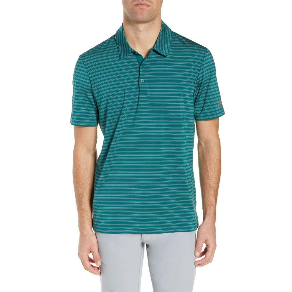 ADIDAS GOLF (アディダス) メンズ ゴルフ トップス adidas Ultimate 365 Two-Color Stripe Polo Shirt Noble Green サイズM [並行輸入品]   B07NWJSJKZ