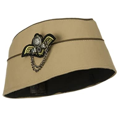 7263758dd84 Image Unavailable. Image not available for. Color  Ladies 1940 s Era  Stewardess Military Fashion Hat TAUPE