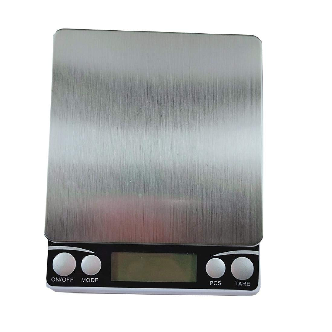 Digital Scale,LtrottedJ High Precision Mini Stainless Steel Jewelry Scale,0.01g/0.1g Electronic Scale (C)