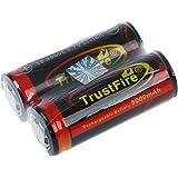 Trustfire 2pcs 26650 3.7v 5000mAh Batterie au lithium pile rechargeable de haute qualite avec PCB protege