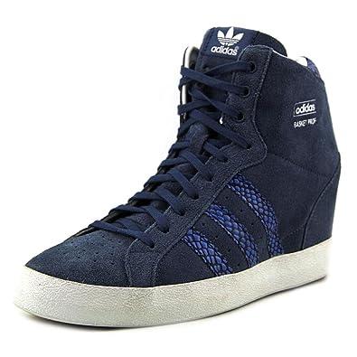 new styles 351ff b1395 Amazon.com   adidas Basket Profi Up Women Sneakers Wedge Marin Blue Black  M20838 (SIZE  9.5)   Fashion Sneakers