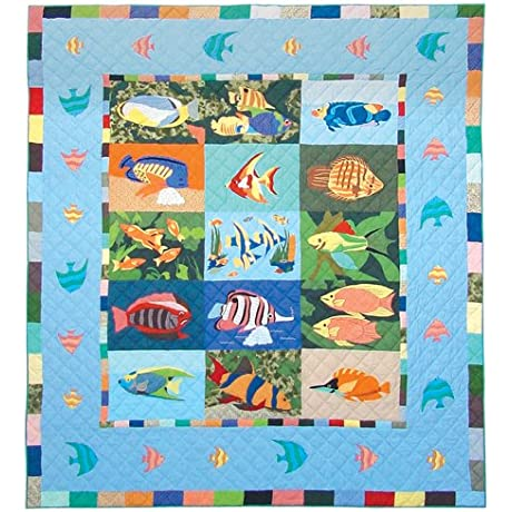Patch Magic Ocean Schools King Quilt 105 Inch By 95 Inch