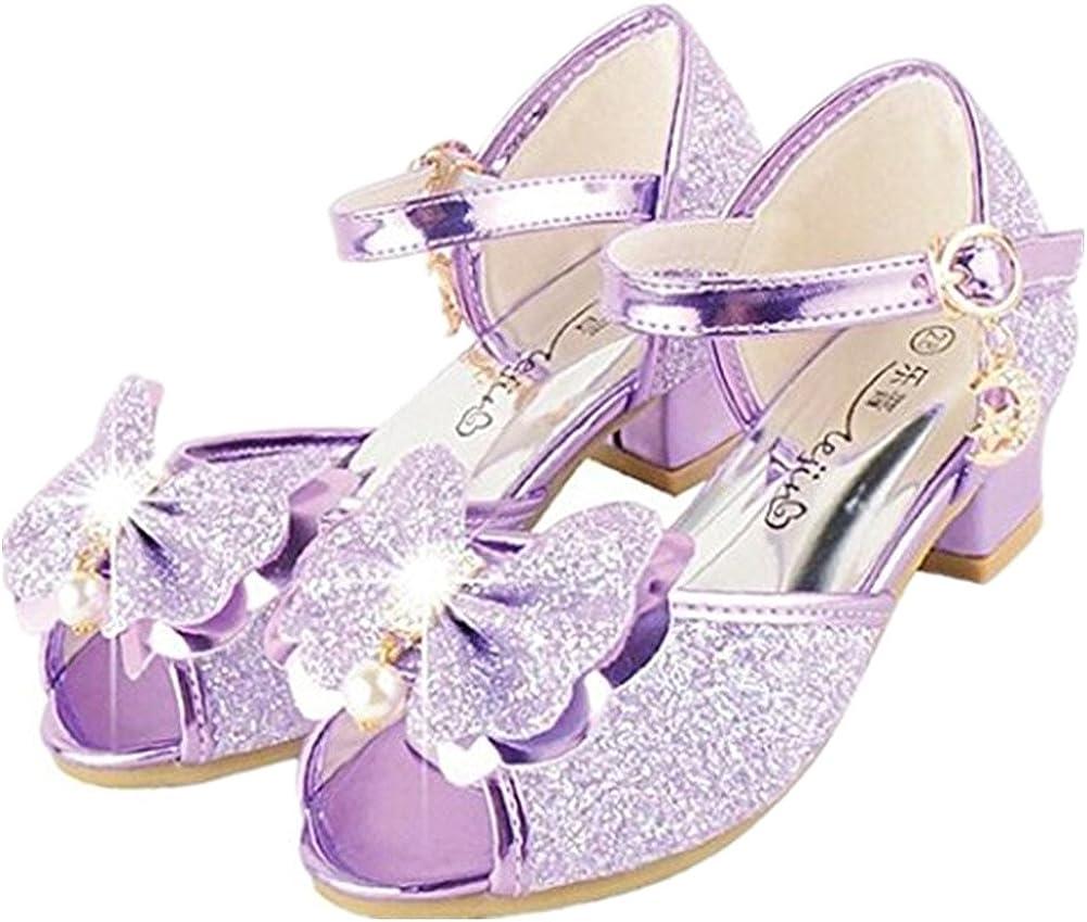 Little GIRLS Lavender Sparkle Shoe Slippers sz 5-8 NEW