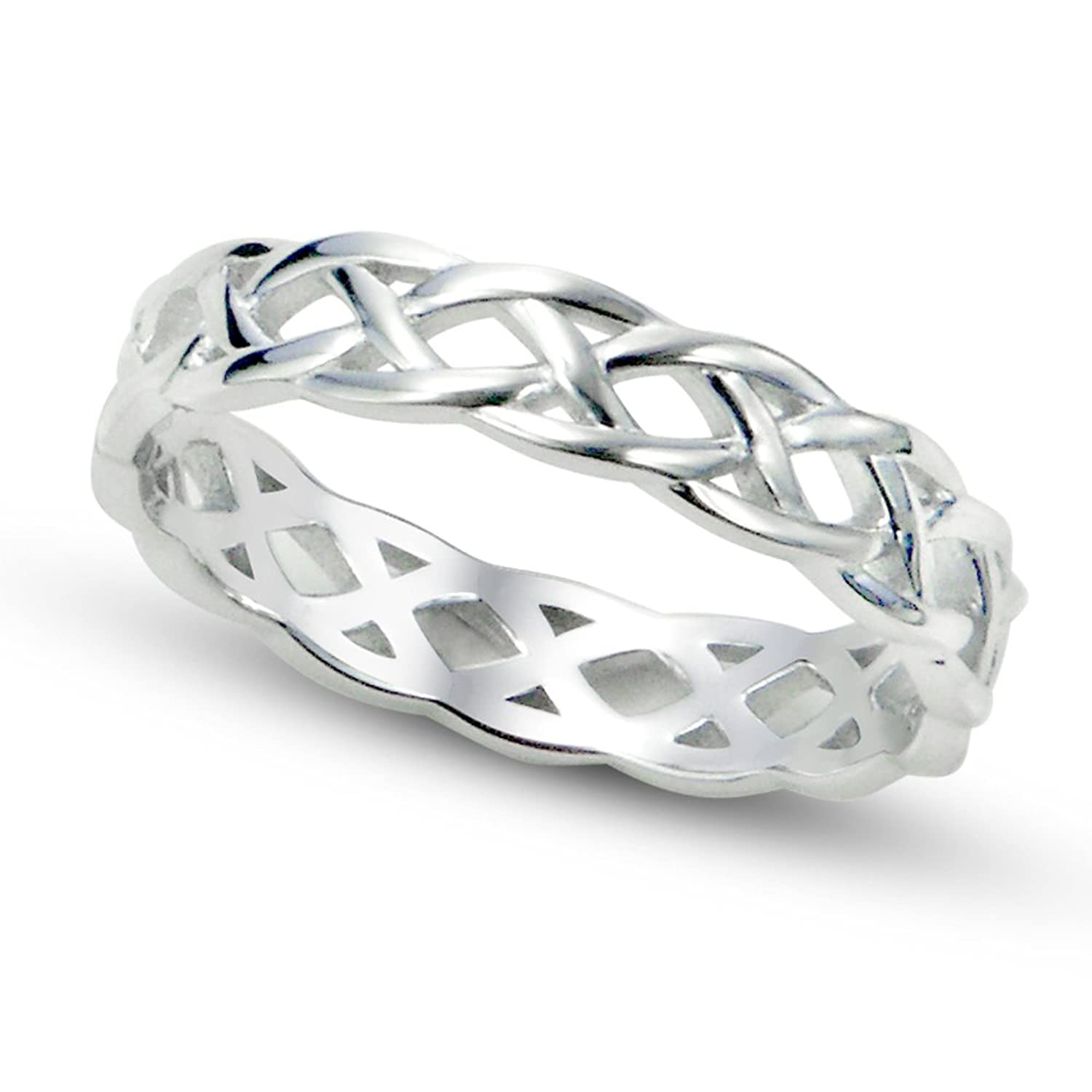 Amazon 925 Sterling Silver Celtic Knot Eternity Band Ring