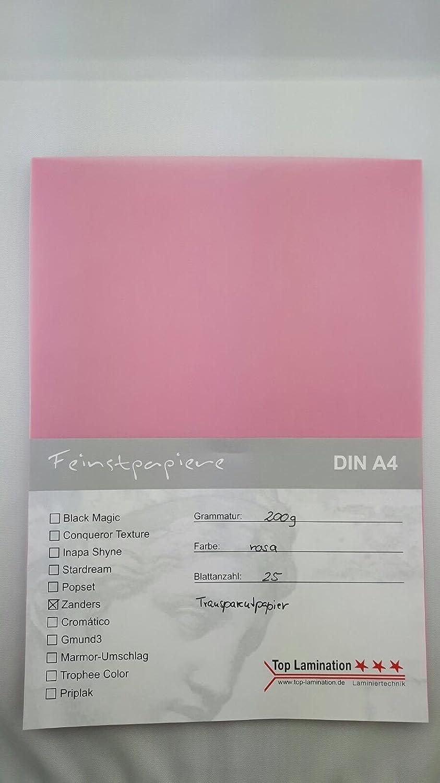 50 Blatt Din A5 Transparentpapier Rot 200g M Top Lamination Fur