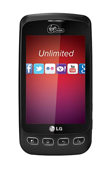 LG Optimus V Prepaid Android Phone Virgin Mobile