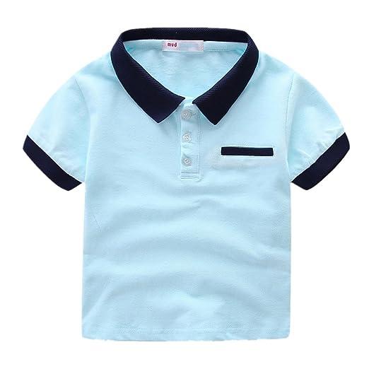 f8e07e08 Amazon.com: LittleSpring Little Boys' Polo T-Shirt Buttons: Clothing