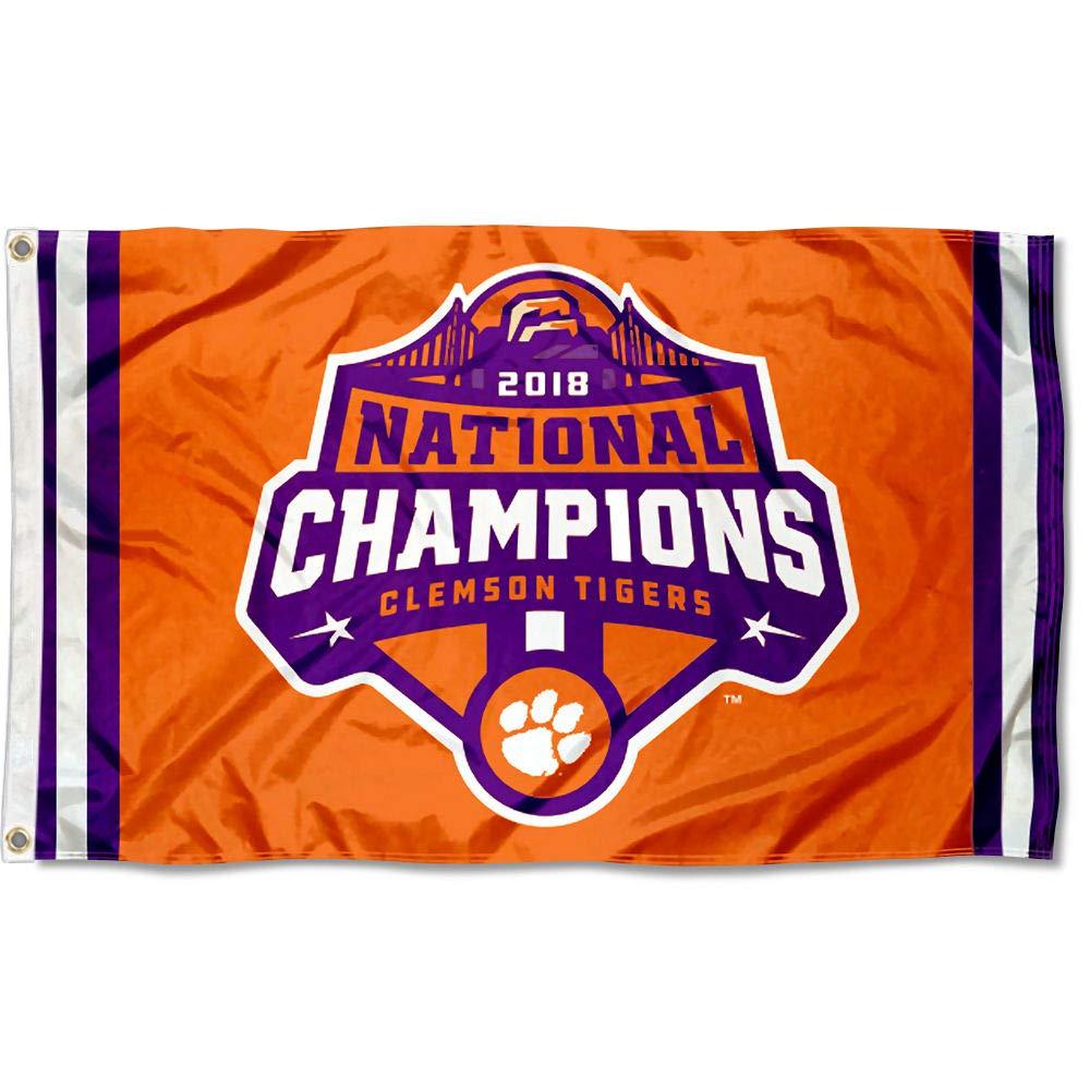 College Flags and Banners Co. クレムソンタイガース 2018ナショナルフットボールチャンピオンフラッグ