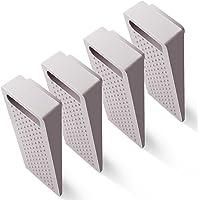 Hiveseen Rubberen deurstopper, 4 stuks, in hoogte verstelbaar, antislip op tegels/parket/tapijt, deurbuffer voor…
