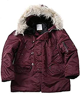 product image for Alpha Industries US N-3B Snorkel Army Military Cold Weather Maroon Brown Parka