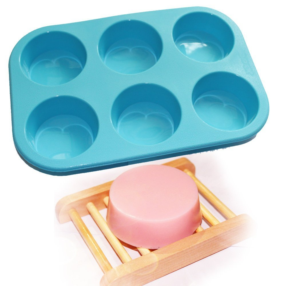 Generic Round Circles Soap Silicone Mold Chocolate Jelly Muffin Cupcake Baking Mould