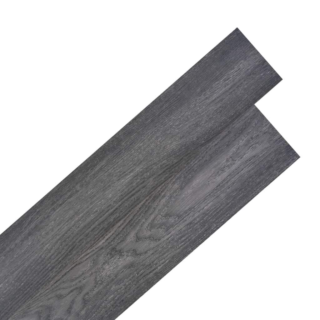 vidaXL Planche de Plancher PVC Autoadh/ésif 2mm Noir et Blanc Dalle de Plancher
