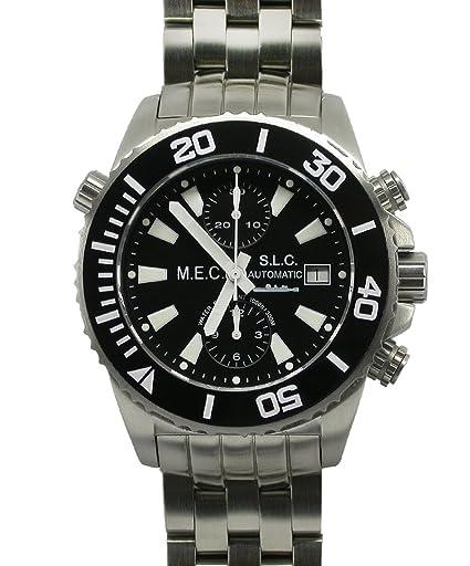 Relojes Hombre Deportivos Militares Automático Cronógrafo Buceo Acero Inoxidable Nuevo Garantía: Amazon.es: Relojes