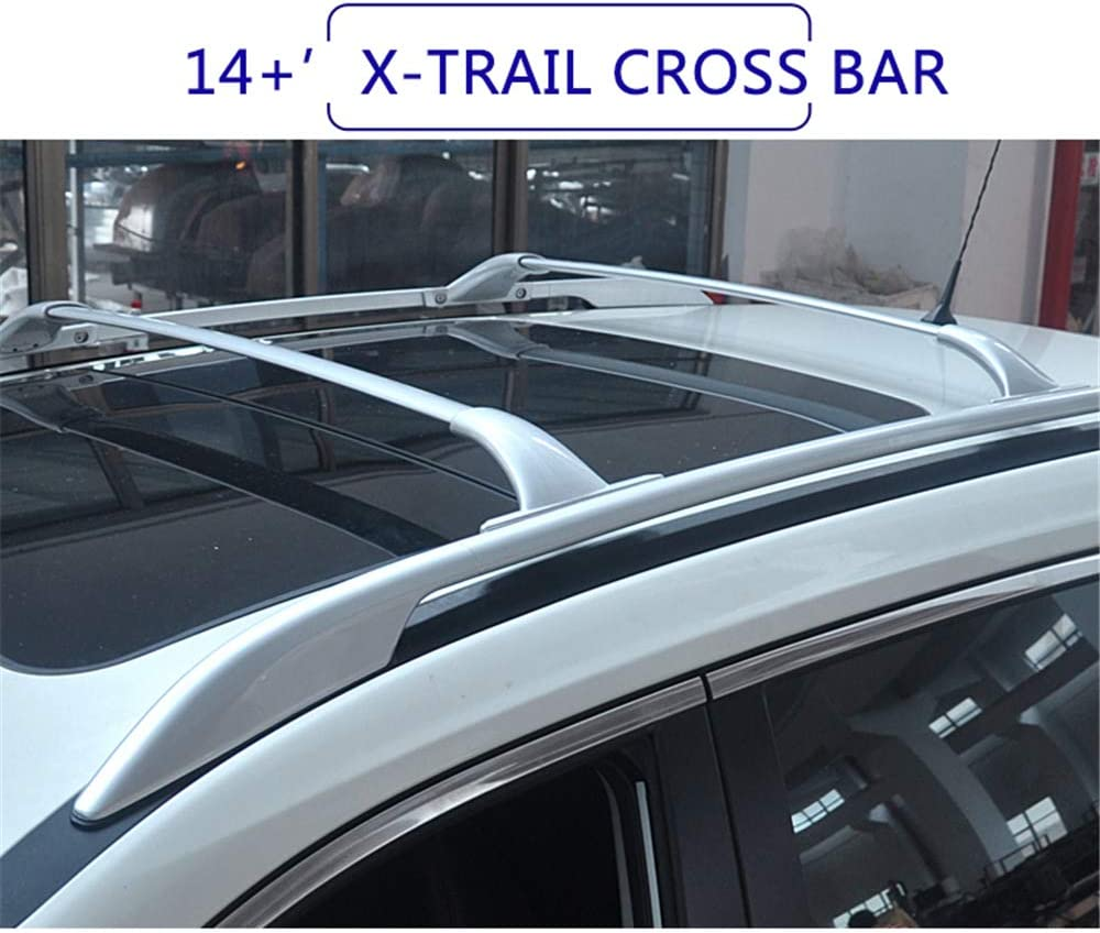 YiXi-Partswell 2Pcs Roof Rack Cross Bars Crossbar Baggage Luggage Rack Aluminum Fit for Infiniti QX50 2010-2017
