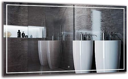 Dimensioni dello Specchio 40x40 cm Specchio con Illuminazione Bianco Caldo 3000K Specchio LED Deluxe ARTTOR M1CD-12-40x40 Specchio a Muro Specchio per Bagno Interruttore tattile