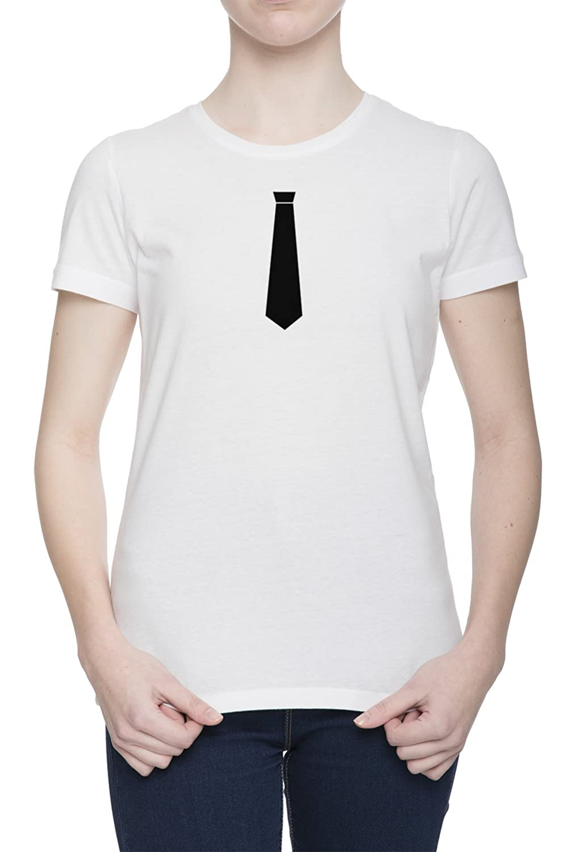 Corbata Gracioso Camiseta Para Mujer Blanca Todos Los Tamaños ...