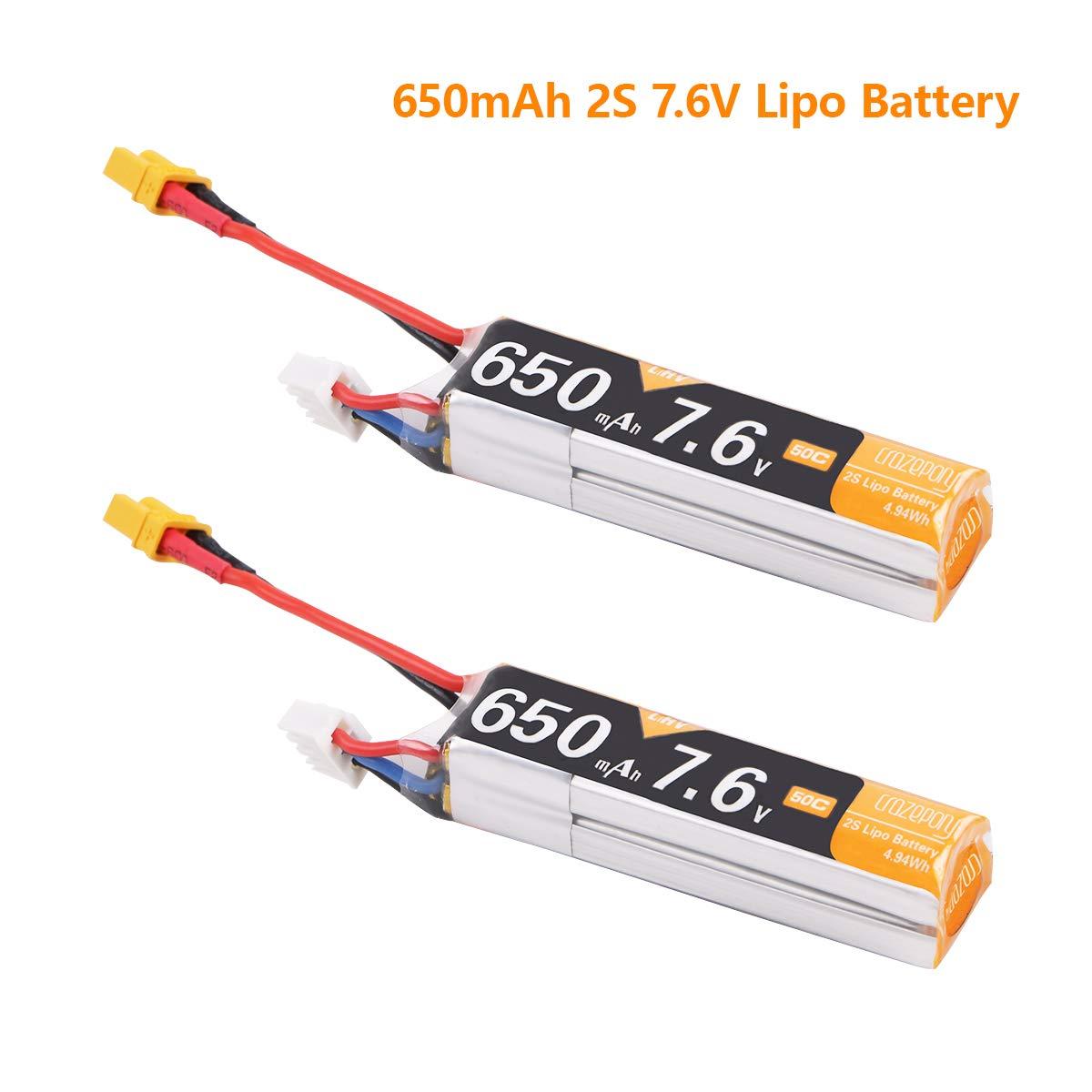 Baterias LIPO (2) 7.6V 650mah RC MAKERFIRE
