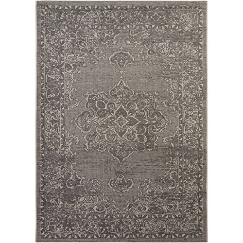Safavieh Palazzo Collection PAL124-78124 Light Grey and Anthracite Area Rug (8' x 11') (Chenille Rugs Jute)