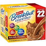Carnation Breakfast Essentials Powder Drink Mix, Rich Milk Chocolate, 22 Count Box of 1.26 oz Packets