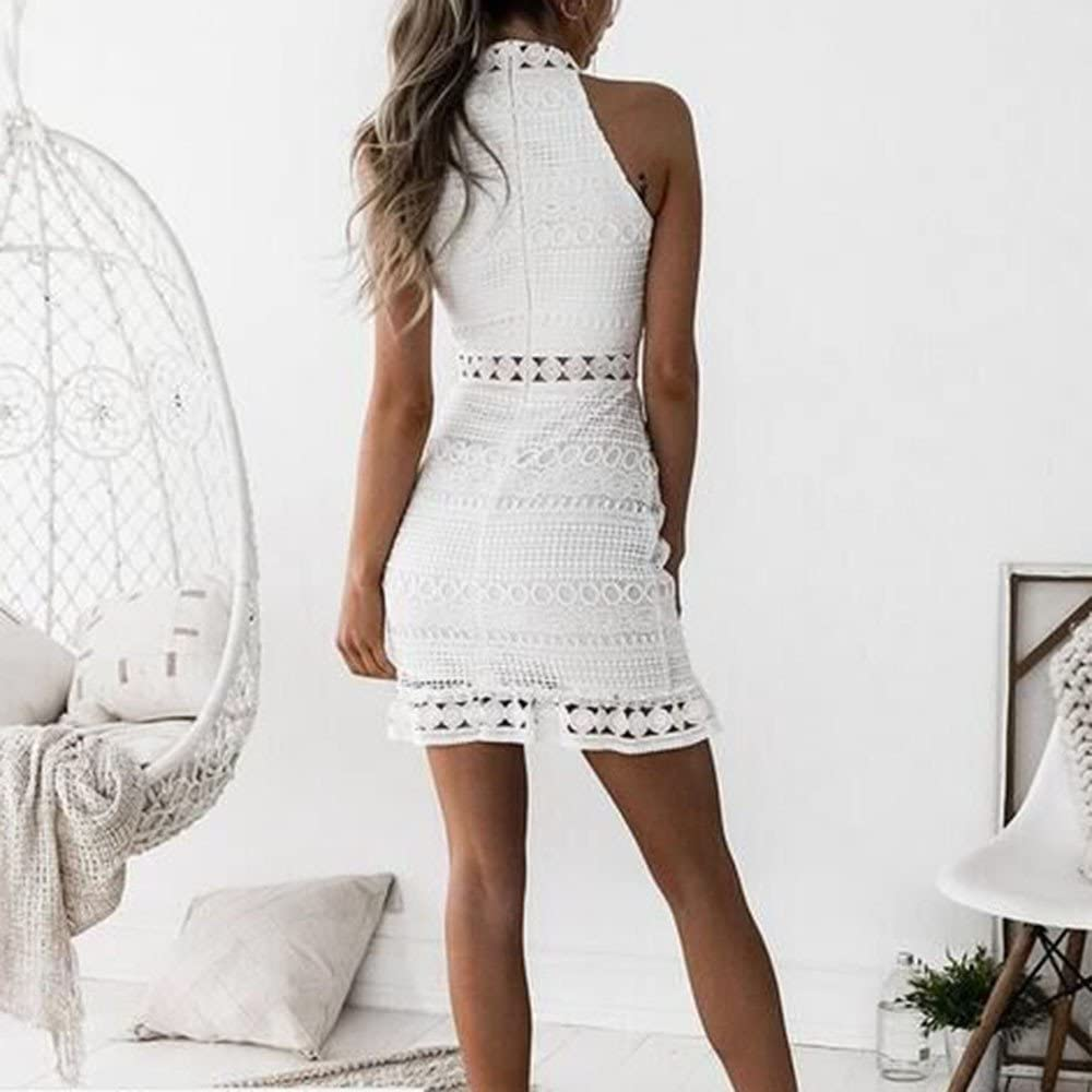 Casual Women/'s Working Pencil Stripe Party Dress Cocktail Lace Up Mini Dresses