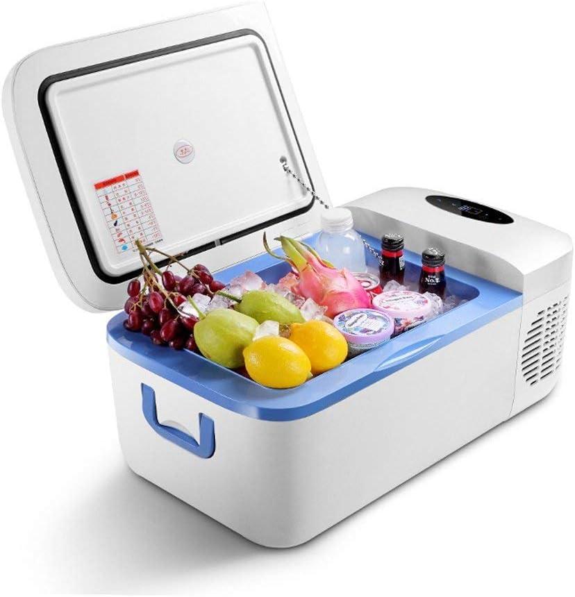 HFA Refrigerador del automóvil, refrigerador de 12 litros, compresor, frigorífico, 12 V / 24 V / 220V - Azul/Blanco