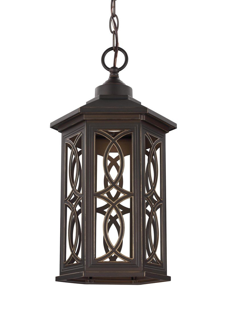 Sea Gull 6217091S-71 Ormsby Outdoor Pendant, 1-Light LED 14 Watts, Antique Bronze by Sea Gull Lighting