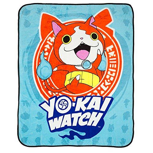 "Price comparison product image Yo-Kai Watch - Jibanyan - Kids Fleece Throw Blanket - 50"" x 60"""