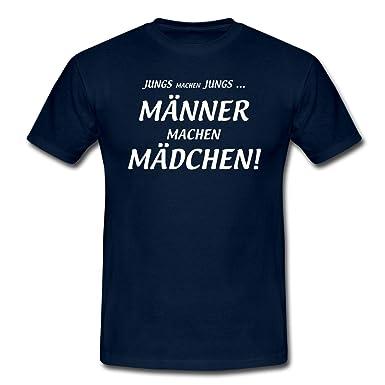 Spreadshirt Männer Machen Mädchen Lustiger Spruch Männer T-Shirt, S, Navy