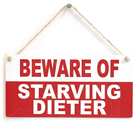 Jiokare Beware of Starving Dieter Jardín Placa Colgante ...