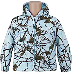 Toddlers Camo Sherpa lined Zip Up Jacket W/ Magnet, 5T, Blue Camo