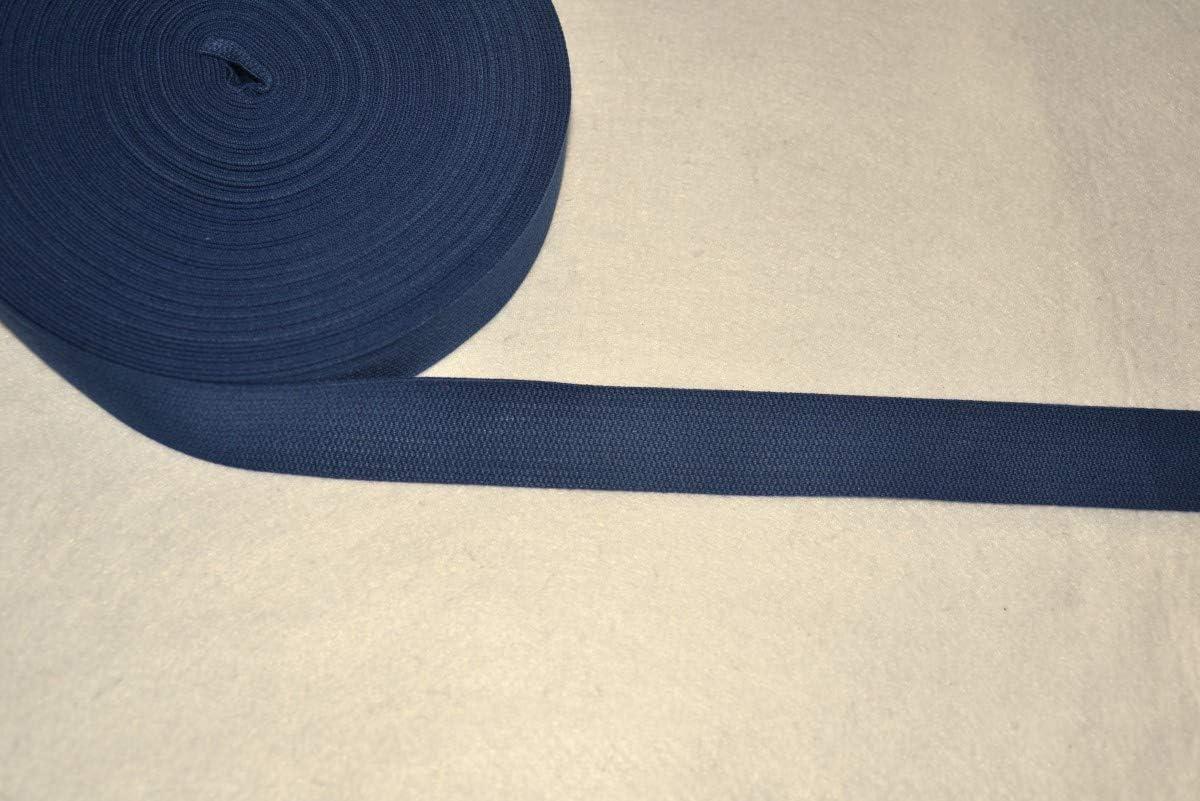 Cinta de algodón azul marino, 30 mm, corte por metro, banda de accesorios para costura, artesanía, manualidades: Amazon.es: Hogar