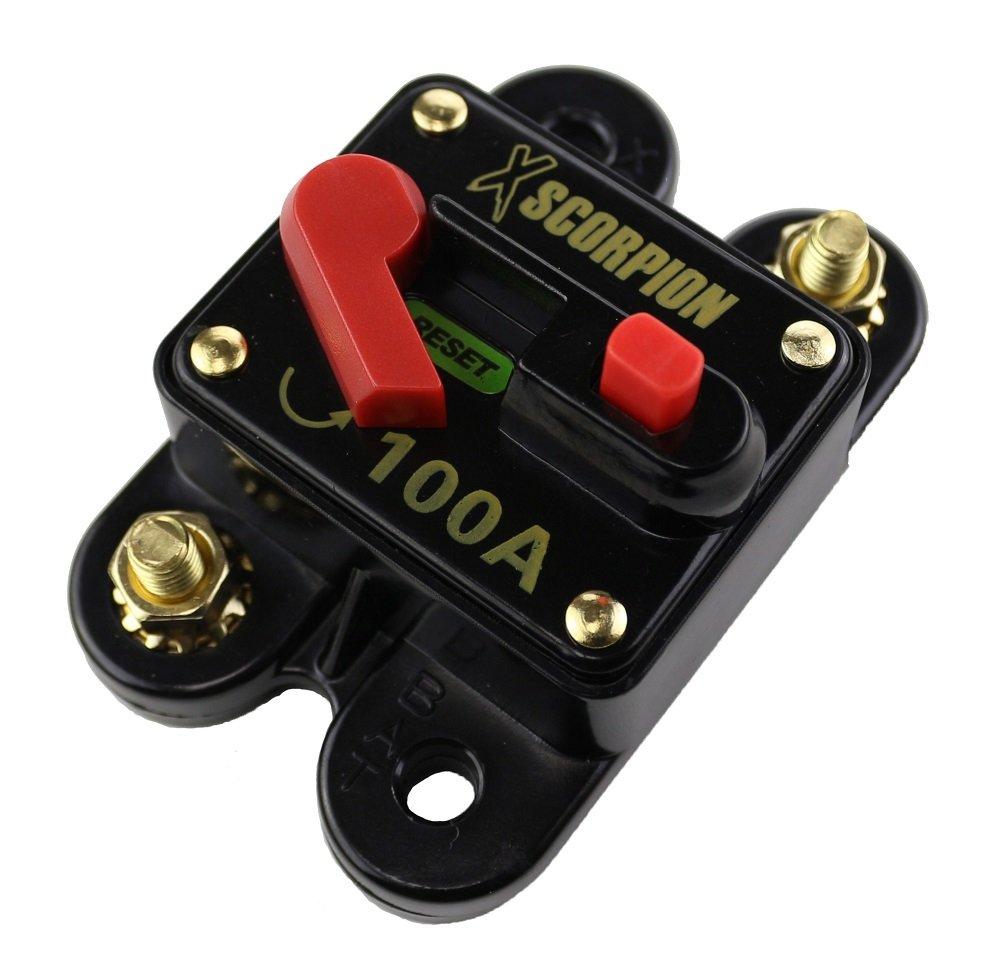 Dolity 2pcs 100Amp Circuit Breaker Switch Manual Reset 12V//24V//32V DC Vehicles