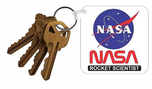 La Nasa Rocket científico de la novedad Llavero w/llavero ...