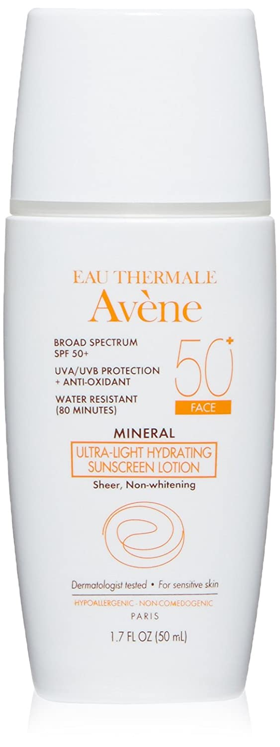 Avene Mineral Ultra Light Hydrating Sunscreen Spf 50 Plus Face Lotion, 1.7 Fluid Ounce by Eau Thermale AvÈne