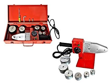 Vetrineinrete® polifusor Soldador 800 W para soldadura de tubos de polipropileno con 6 troqueles de