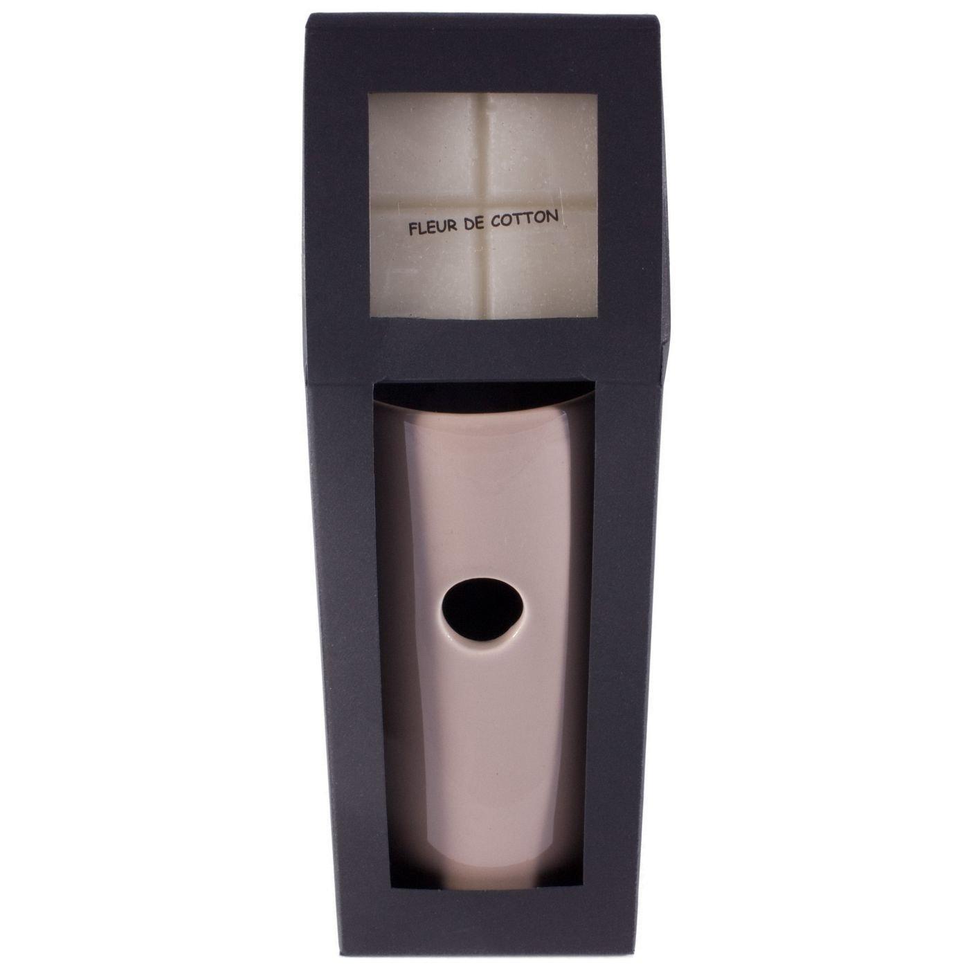 Drake Ceramic Home Fragrance Wax Melt Burner Tube Taupe with Pack of Melts