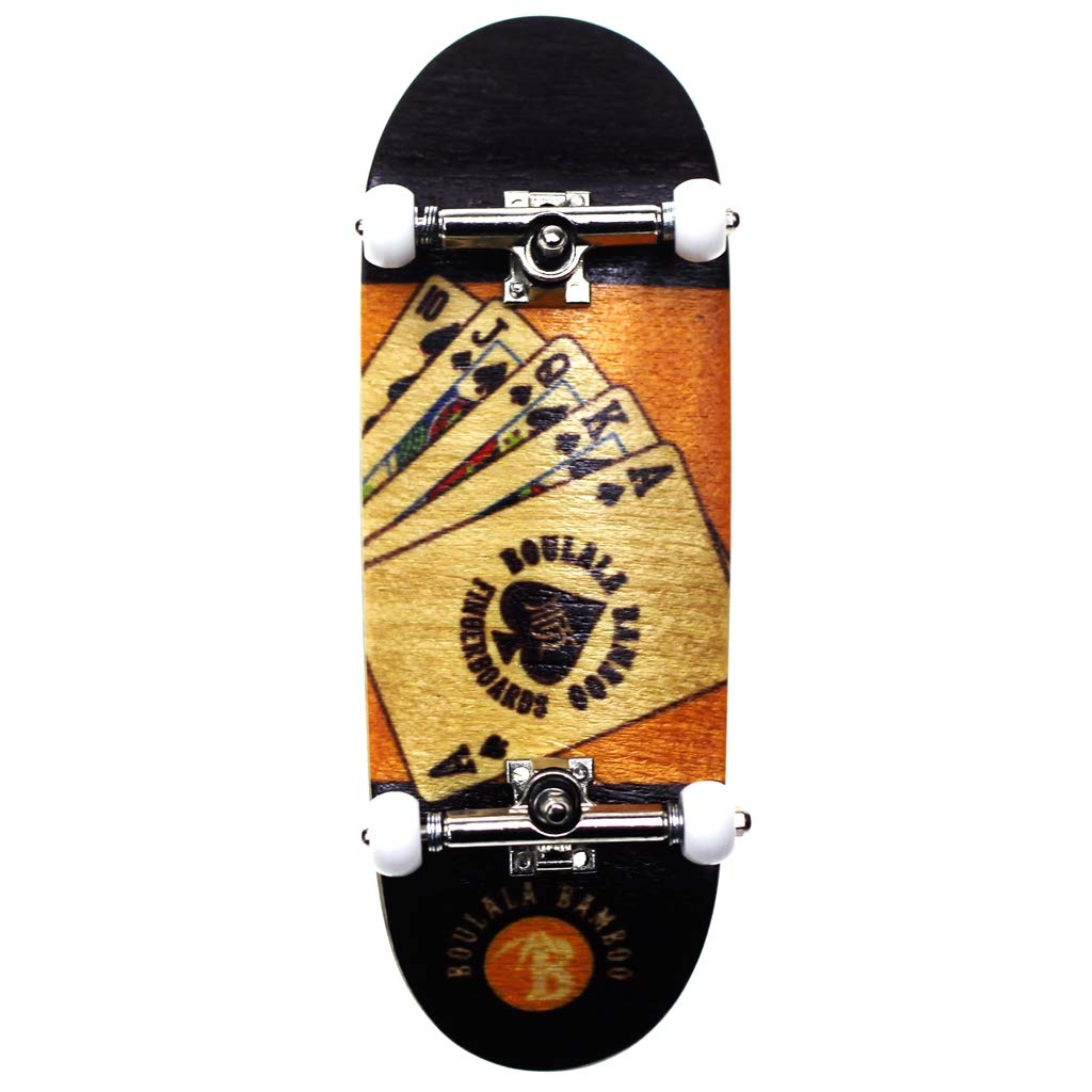 SOLDIERBAR 9.0 Bamboo Fingerboards (Deck,Truck,Wheel Set for PRO) Royal Flush by SOLDIER BAR
