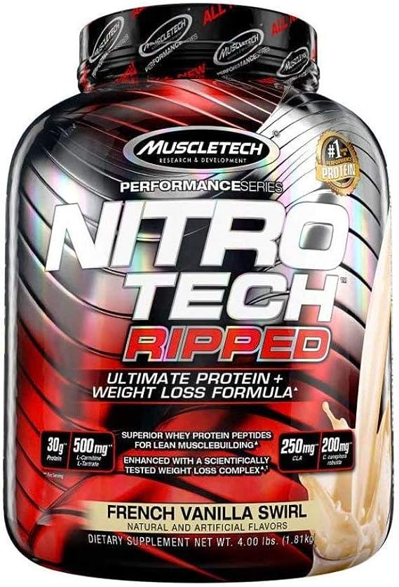 Muscletech Nitro Tech Ripped - 1,8 kg French Vanilla Swirl