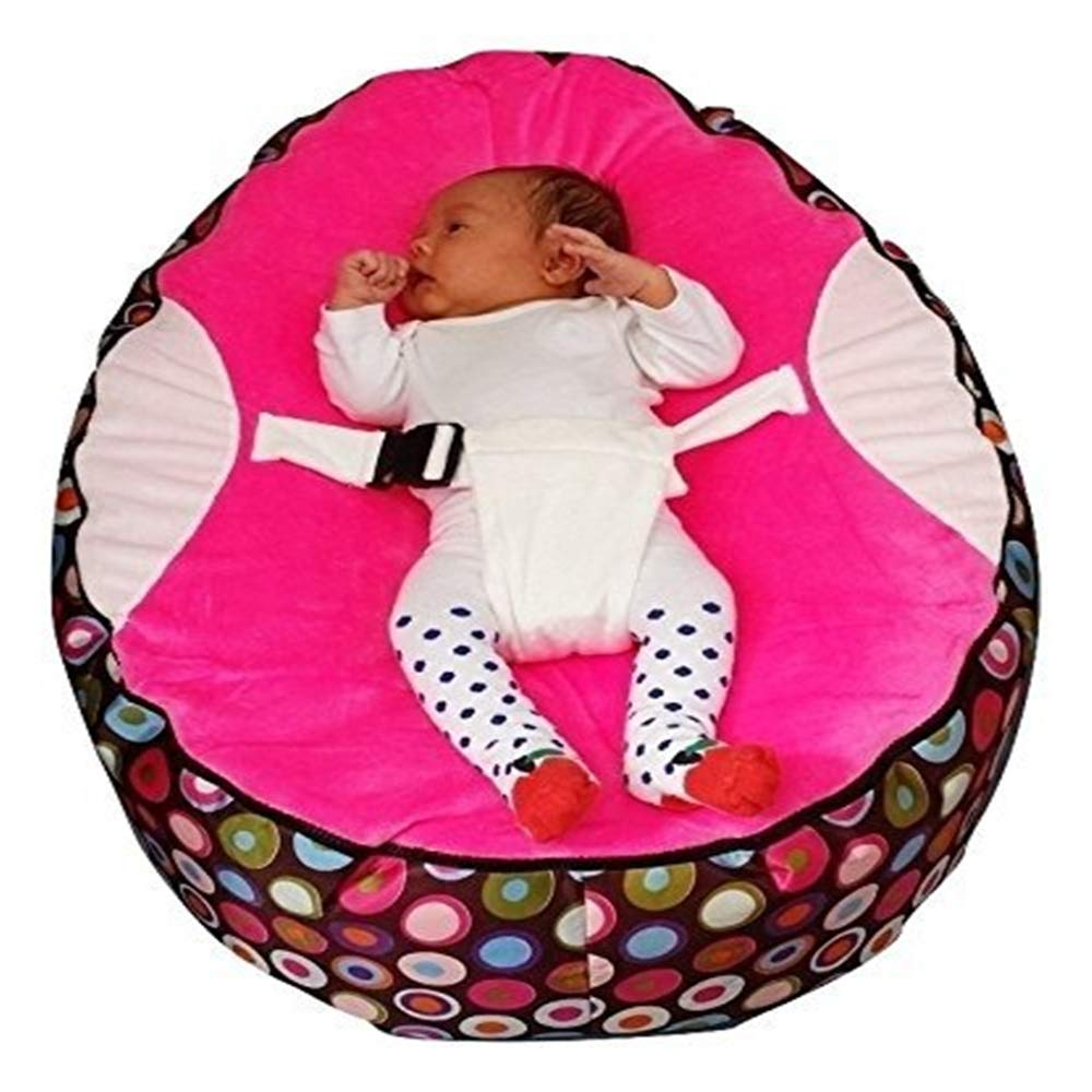 Baby Bean Bag Snuggle Bed Bouncer with Safety Harness for Kids Children Infants Newborn Unisex Ensuring They Can Rest Securely Strong Support Long Service Life