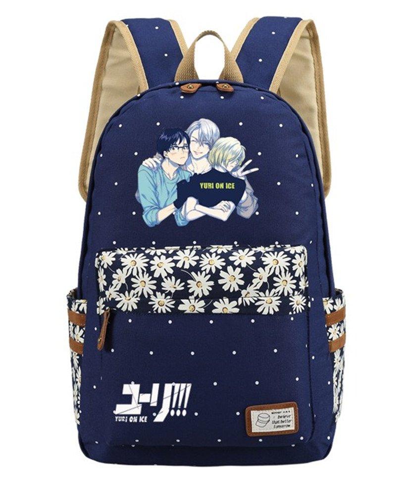 Siawasey Anime Yuri on Ice Bookbagバックパックスクールバッグ   B07465RF6R