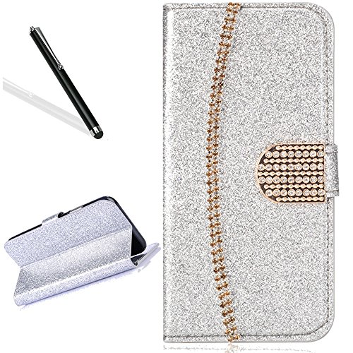 Wallet Case for iPhone 6S Plus 5.5'',Leecase Luxury Noble Sparkle Shining Gold Chain Design Cover for iPhone 6 Plus 5.5''/6S Plus 5.5'' by Leecase