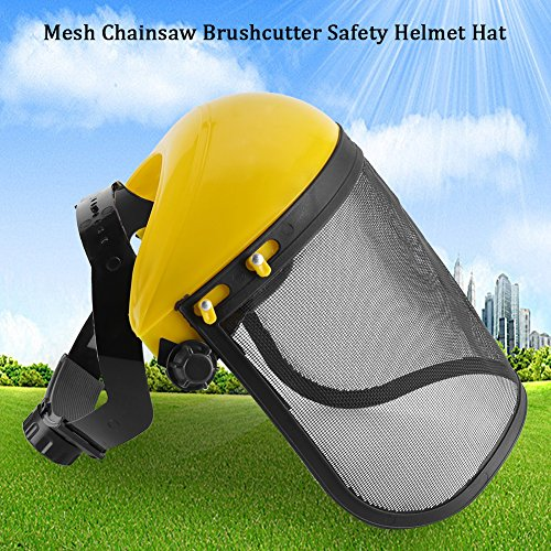 Forestry Safety Helmet, Hat with Full Face Mesh for Weeding, Protection Mask
