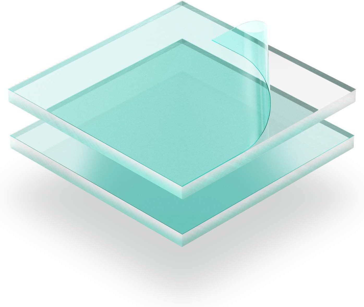 20 x 20 cm Kunststoffplattenonline.de Transparent 200 x 200 mm Acrylgas XT Platten//Acrylglasplatten XT 5mm im Zuschnitt