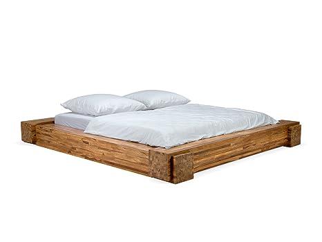 Massivum Bett Montevideo 180x200cm Palisander Braun Lackiert