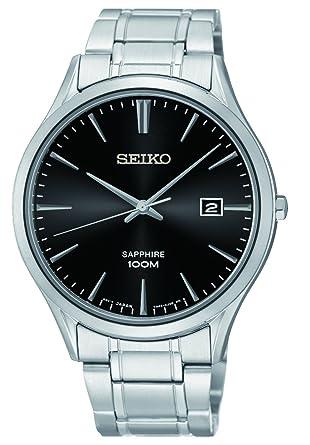 52adb6ac346 Seiko Montre Homme Analogique Quartz avec Bracelet en Acier Inoxydable –  SGEG95P1