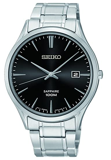 Seiko Reloj de Cuarzo para Hombre con Correa de Acero Inoxidable - SGEG95P1: Amazon.es: Relojes