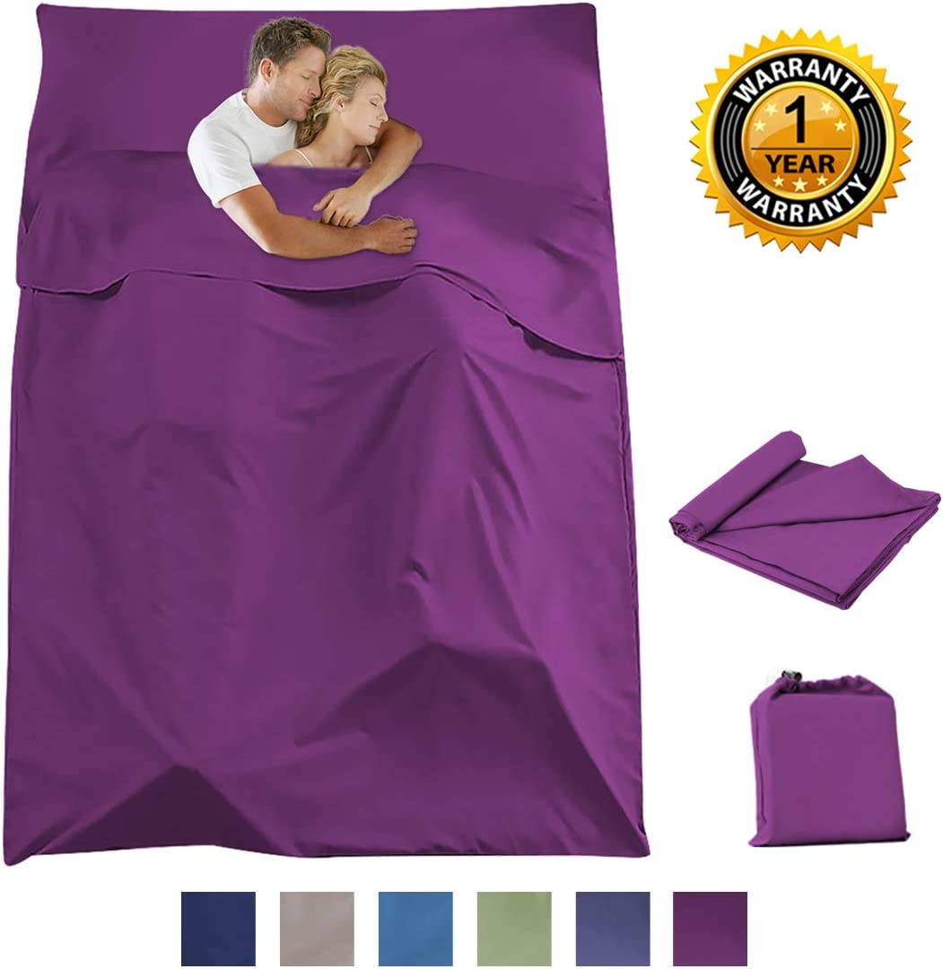 Sleeping Bag Liner Camping Travel Home Bed Sheet Lightweight Breathable Hotel Compact Sacks