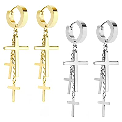 Amazon.com: JewelrieShop - Pendientes de aro con bisagras y ...