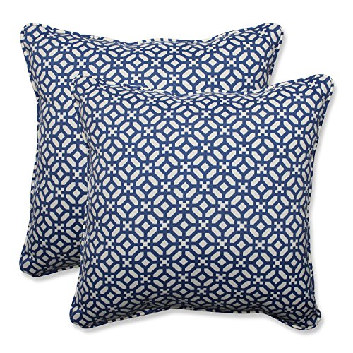 Pillow Perfect Outdoor Indoor in The Frame Throw Pillow Set of 2 , 18.5 , Sapphire