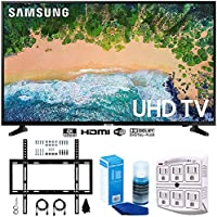 Samsung UN50NU6900 50 NU6900 Smart 4K UHD TV (2018) w/Wall Mount Bundle Includes, Wall Mount Kit for 45-90 inch TVs, Screen Cleaner (Large Bottle) and SurgePro 6-Outlet Surge Adapter w/Night Light